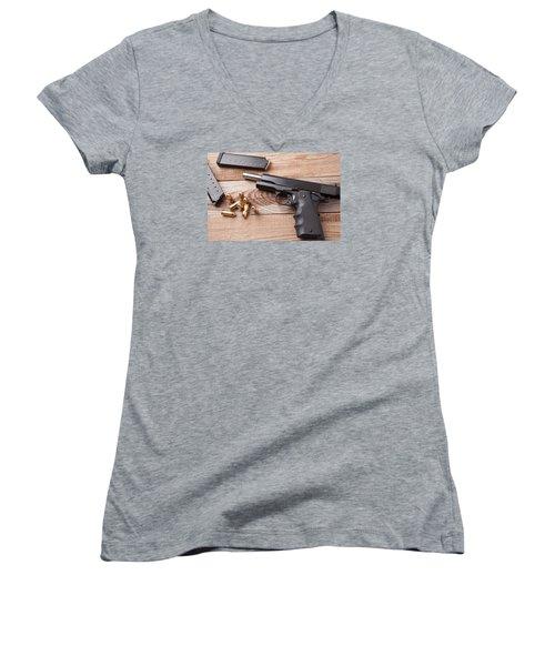 Pistol Women's V-Neck