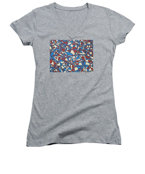 Planet Abstract Women's V-Neck T-Shirt