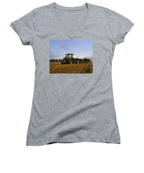 Planting Deere Women's V-Neck T-Shirt