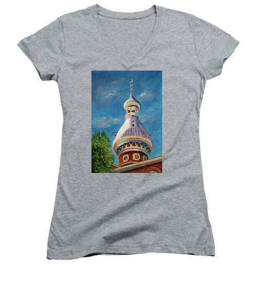 Play Of Light - University Of Tampa Women's V-Neck T-Shirt
