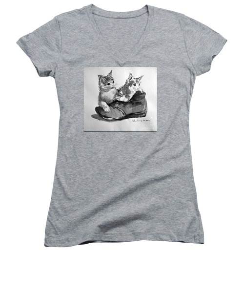 Playful Kittens Women's V-Neck