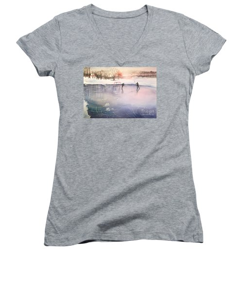 Playing On Ice Women's V-Neck (Athletic Fit)