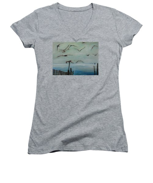 Playtime Women's V-Neck T-Shirt