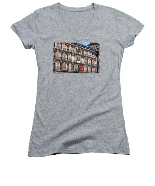 Plaza Mayor Women's V-Neck T-Shirt