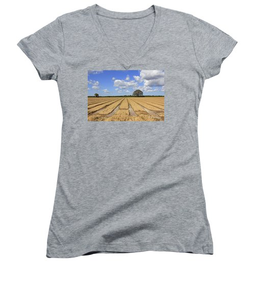 Ploughed Field Women's V-Neck