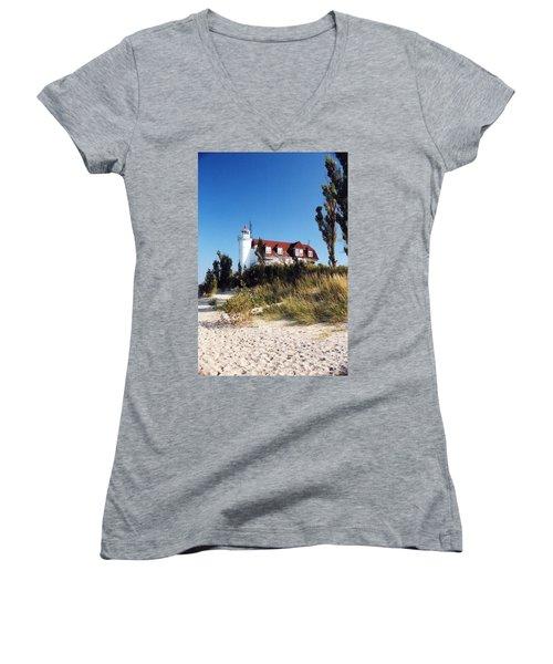 Point Betsie Lighthouse Women's V-Neck