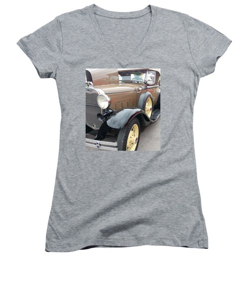 Women's V-Neck T-Shirt (Junior Cut) featuring the photograph Polished by Caryl J Bohn