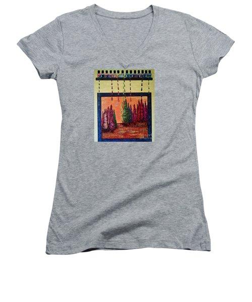 Polished Forest Women's V-Neck T-Shirt