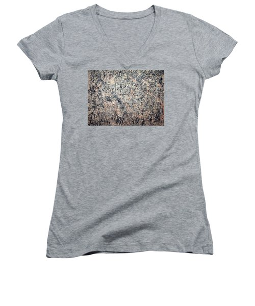 Pollock's Number 1 -- 1950 -- Lavender Mist Women's V-Neck (Athletic Fit)