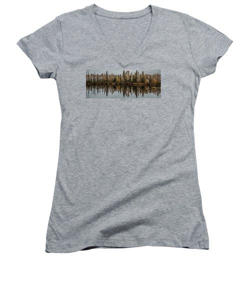 Pond Reflections Women's V-Neck T-Shirt