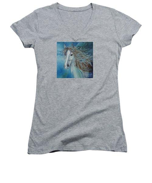 Pony Women's V-Neck T-Shirt