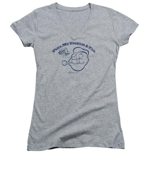 Popeye - Toot! Toot! Women's V-Neck T-Shirt