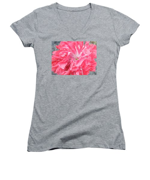 Popping Pink Women's V-Neck T-Shirt (Junior Cut) by Brian Boyle