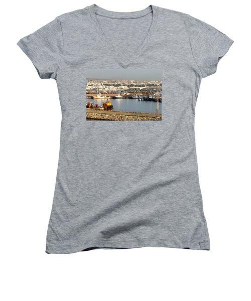 Port Of Agadir Morocco 1 Women's V-Neck T-Shirt
