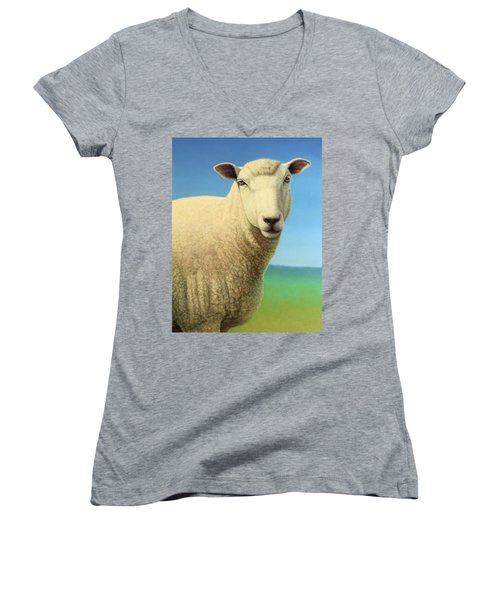 Portrait Of A Sheep Women's V-Neck (Athletic Fit)