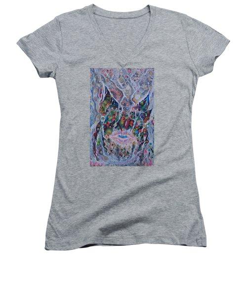 Portrait Of Art Brutus Women's V-Neck T-Shirt