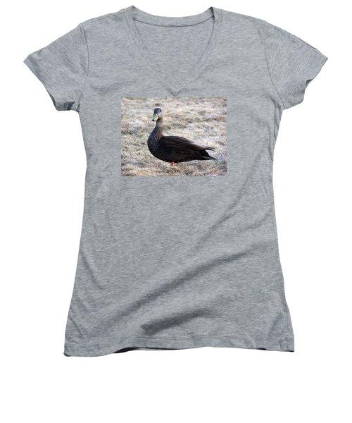 Posing For The Camera Women's V-Neck T-Shirt