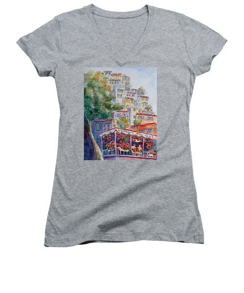 Positano Restaurant Women's V-Neck