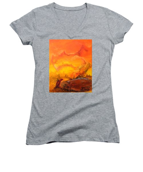 Post Nuclear Watering Hole Women's V-Neck