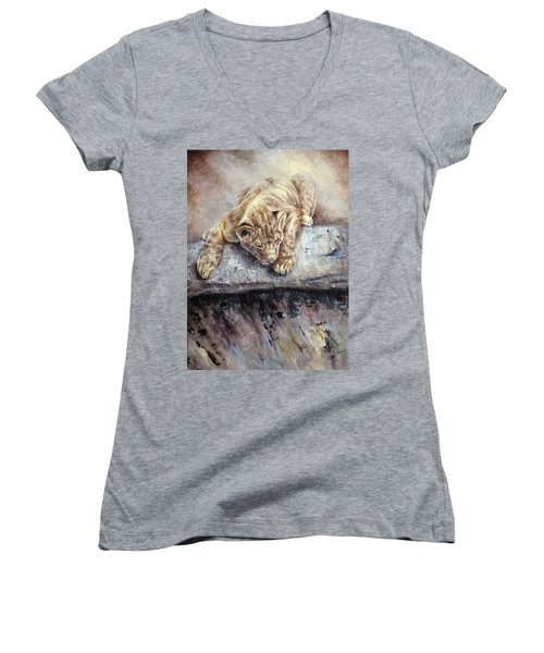 Pounce Women's V-Neck T-Shirt