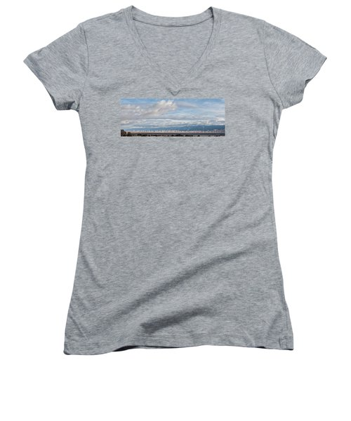 Power From The Wind In Western Skies Women's V-Neck T-Shirt