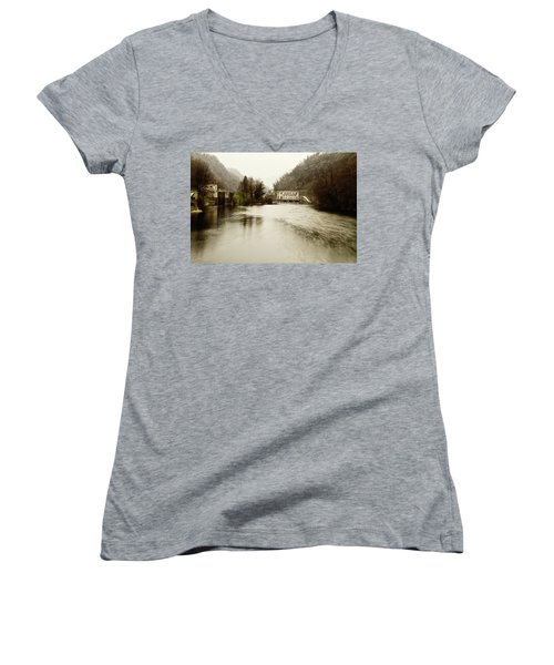 Power Plant On River Women's V-Neck