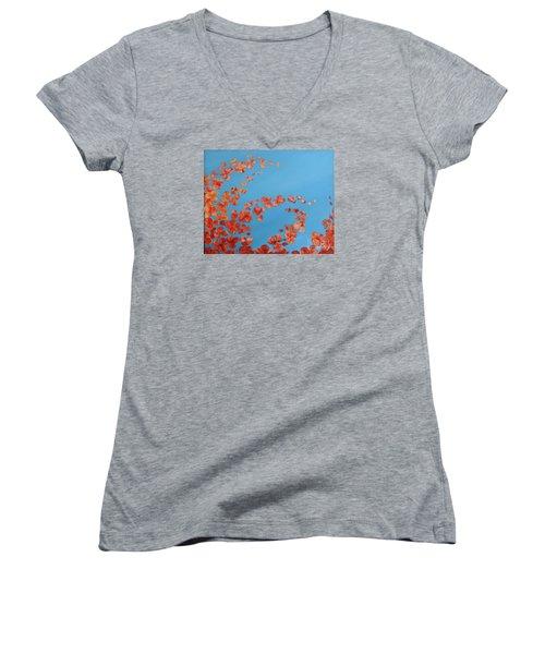 Precious Moments Women's V-Neck T-Shirt (Junior Cut) by Teresa Wegrzyn