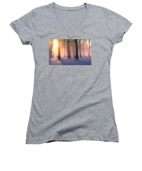 Presence Of Light Women's V-Neck T-Shirt