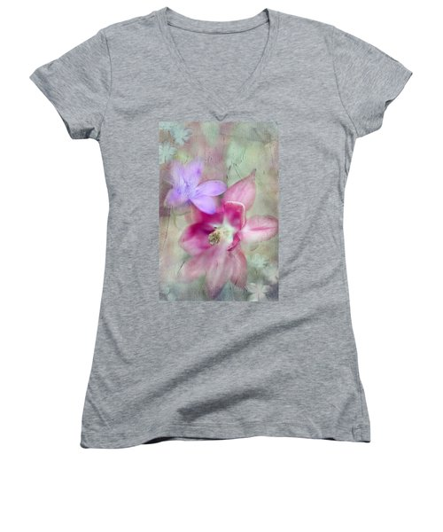 Pretty Flowers Women's V-Neck (Athletic Fit)