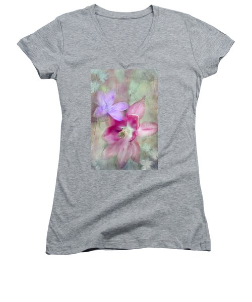 Pretty Flowers Women's V-Neck