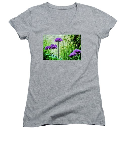 Pretty Purple Women's V-Neck (Athletic Fit)