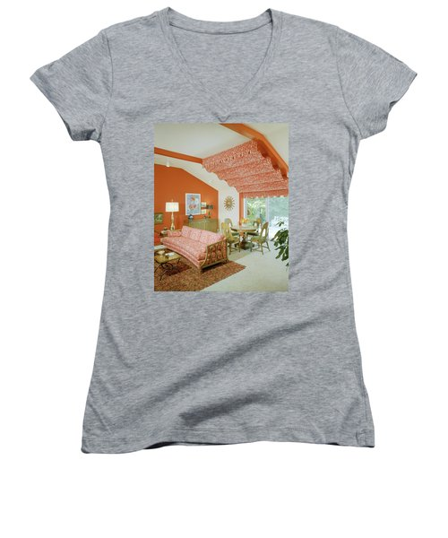Print By David & Dash Incorporated In The Design Women's V-Neck