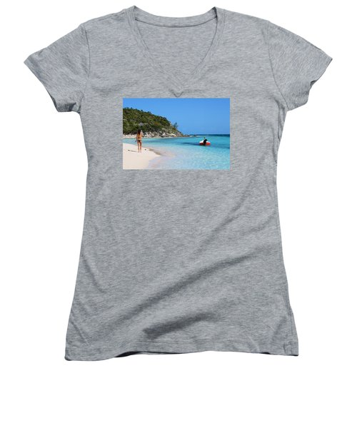 Private Beach Bahamas Women's V-Neck