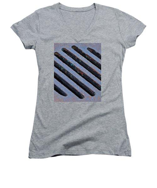 Protection Women's V-Neck T-Shirt (Junior Cut) by Lisa Phillips