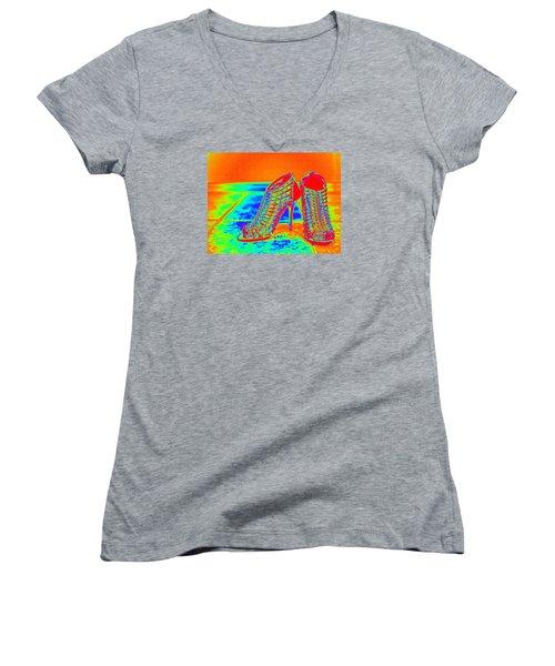 Psychedelic Stilettos Women's V-Neck T-Shirt