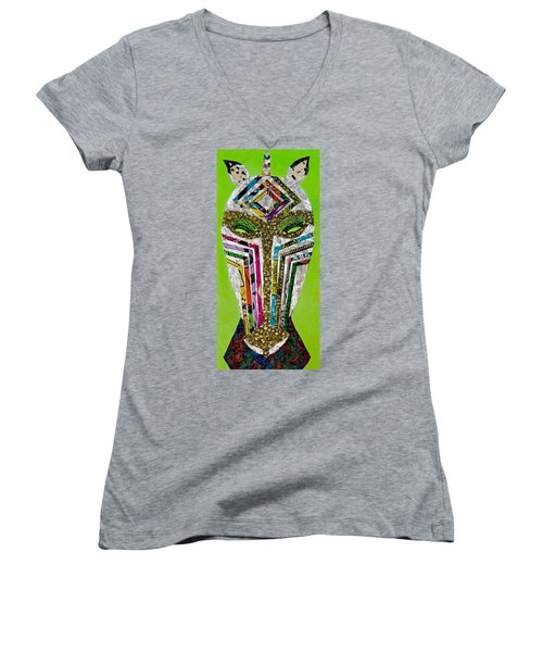 Punda Milia Women's V-Neck T-Shirt