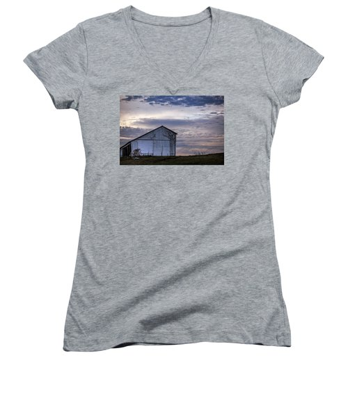 Women's V-Neck T-Shirt (Junior Cut) featuring the photograph Pure Country by Sennie Pierson