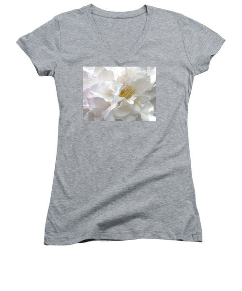 Pure White Women's V-Neck (Athletic Fit)