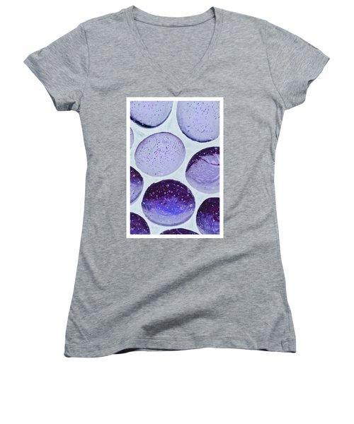 Purple Blue Women's V-Neck (Athletic Fit)