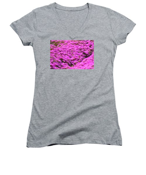 Purple Hills Women's V-Neck T-Shirt (Junior Cut) by Amy Gallagher