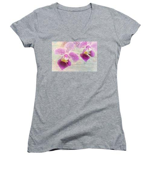 Purple Orchid 2 Women's V-Neck