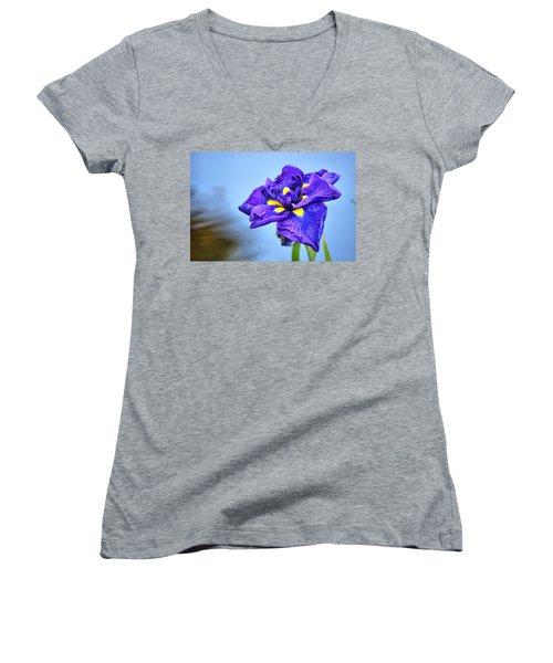Purple Pond Iris Women's V-Neck