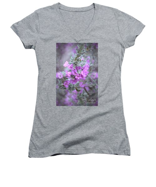 Purple Sage Women's V-Neck (Athletic Fit)