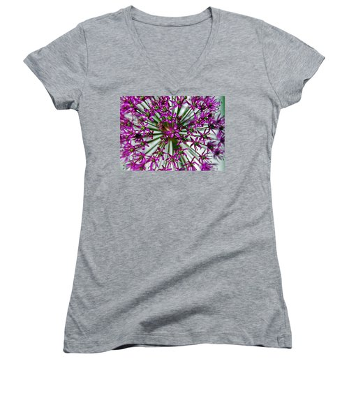 Women's V-Neck T-Shirt (Junior Cut) featuring the photograph Purple Starlight by Aimee L Maher Photography and Art Visit ALMGallerydotcom