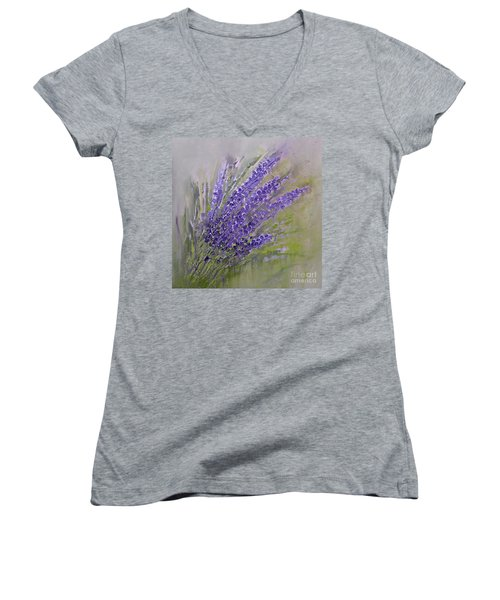 Purple Lavender Summer Women's V-Neck (Athletic Fit)