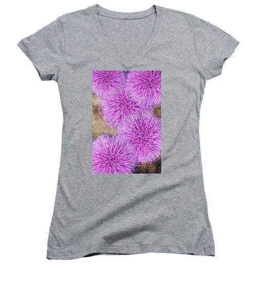 Purple Thistle - 2 Women's V-Neck