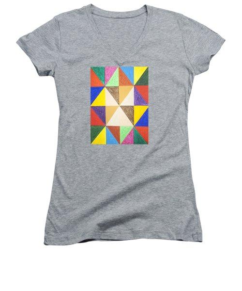 Pyramids 2 Women's V-Neck T-Shirt