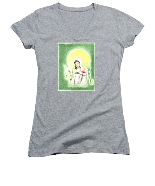 Quan Yin Women's V-Neck (Athletic Fit)