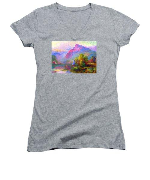 Sailing Into A Quiet Haven Women's V-Neck T-Shirt