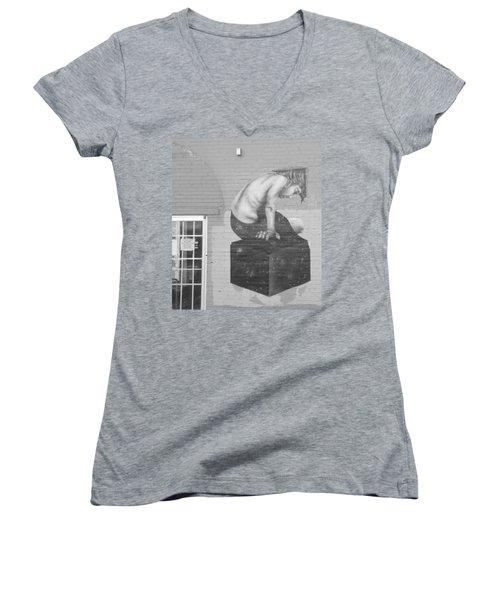 Quiet Please  Women's V-Neck T-Shirt